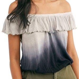 Free People Off The Shoulder Tie Dye Size Small